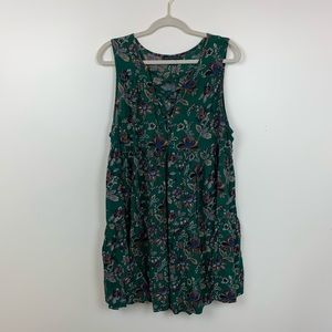 American Eagle Floral Laced Up Tiered Dress